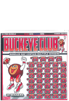Buckeye Cub - Bingo Jar Tickets