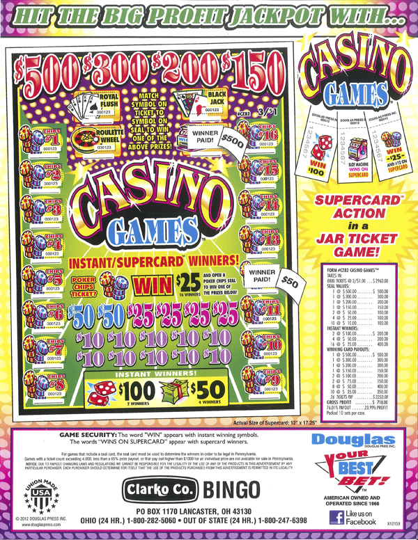 casino games supplies