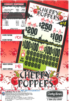 Cherry Poppers - Bingo Jar Tickets
