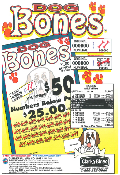 Dog Bones - Bingo Jar Tickets