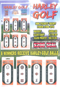 Harley Golf Coin and Boards