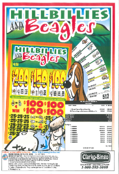 Hillbillies and Beagles - Bingo Jar Tickets