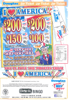 I Love America - Bingo Jar Tickets