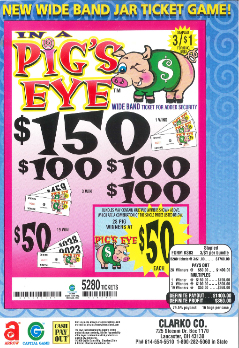 In a Pigs Eye - Bingo Jar Tickets