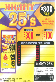 Mighty 25's - Bingo Supplies - Sale Products